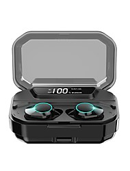 cheap -KUMI T3S TWS True Wireless Headphone Earbuds Bluetooth 5.0 Stereo LED Display Auto Pairing IPX6 Waterproof 3300mAh Charging Case Smart Touch 6D Surround Bass