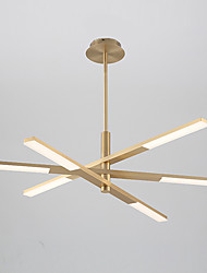 Недорогие -6-Light 35 cm Спутник Дизайн Люстры и лампы Алюминий Электропокрытие / Окрашенные отделки Художественный / Северный стиль общий