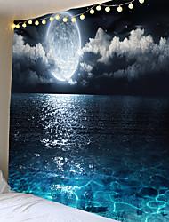 cheap -Wall Tapestry Art Decor Blanket Curtain Picnic Tablecloth Hanging Home Bedroom Living Room Dorm Decoration Landscape Full Moon Night Sea Ocean Cloud Star Sky