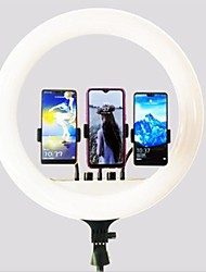 cheap -18 inch Live Broadcast Ring Light TikTok Youtube Dimmable Fill Light 480 LED 60W for Anchor Photography Beauty with Three Phone Holders Stand Remote Control 1 set