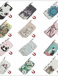 cheap -Case for Apple scene map iPhone 11 11 Pro 11 Pro Max 3D cartoon pattern shiny flip leather case PU material pluggable leather case phone case TX