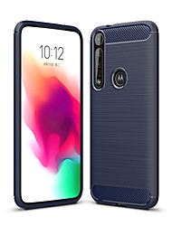 cheap -Naxtop Carbon Fiber Brushed Soft Bumper Back Cover Full Protective Phone Case For Motorola Moto G8 G7 Power Plus Play
