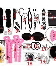 cheap -Headbands / Hair Bands / Set Hair Accessories Hard Plastic / Cotton Fibre Wigs Accessories Women's / Girls' 20 pcs pcs cm Christmas / Halloween / Party Evening Headpieces / Beautiful Girl Kits