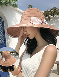 cheap -Hiking Hat Fishing Hat Fisherman Hat Hat 1 PCS Portable Sunscreen UV Resistant Breathable Solid Color Polyester Autumn / Fall Spring Summer for Women's Camping / Hiking Hunting Fishing Dark Pink