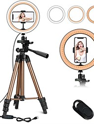 cheap -7.87inch(20cm) Selfie Ring Light Night Light Tiktok Light Youtube Video Color-Changing / Dimmable / Adjustable Selfie Light Remote Control 2pcs