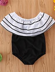 cheap -Toddler Newborn Girls' Basic Print Sleeveless Swimwear Black