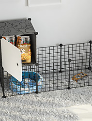 cheap -Dog Playpen Play House Fence Systems Foldable Washable Durable Free Standing Plastic Black 16pcs