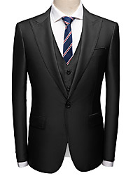 cheap -Tuxedos Tailored Fit Peak Single Breasted One-button Polyester Textured / British / Fashion