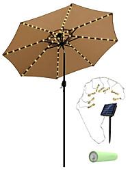 cheap -5m 20 LED Festoon Solar Power Umbrella String Lights Outdoor String Lights Outdoor Waterproof Garden Lawn Lamp Carriage Lantern Umbrella Lights with Lithium Battery