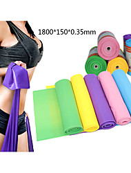 cheap -Exercise Resistance Bands 1 pcs Sports TPE Home Workout Gym Yoga Odor Free Eco-friendly Non Toxic High Elasticity Strength Training Physical Therapy Leg Shaping For Men Women Waist & Back Leg Forearm