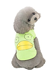 cheap -Dog Vest Character Casual / Daily Dog Clothes Puppy Clothes Dog Outfits Pink Green Gray Costume for Girl and Boy Dog Cotton S M L XL XXL