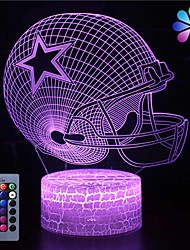 cheap -3D Illusion Night Light Desk Lamp 16 Colors Auto Gradual Changing USB Powered LED Lights with Touch Switch for Kids Gifts Home Decoration (3D Ball Cap Light)