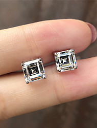 Недорогие -5 карат Синтетический алмаз Серьги Сплав Назначение Жен. Принцесса вырезать Стиль Роскошь Элегантный стиль Свадьба Свадьба Вечерние Официальные Высокое качество Классический 1 пара