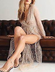 cheap -Summer Sequin Tulle Midi Dress