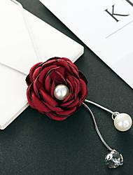 Недорогие -Жен. Красный Цирконий длинное ожерелье Классический Розы Простой Классика Мода Хром Красный 80 cm Ожерелье Бижутерия 1шт Назначение Подарок Повседневные фестиваль