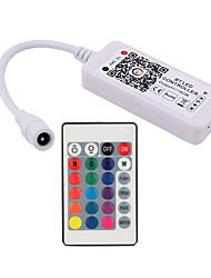 cheap -Bluetooth LED Smart Controller Working with Android and IOS System  Free App for RGB LED Light DC5V-24V Comes With 24 Keys IR Remote Control