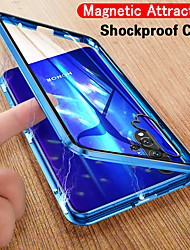 cheap -Single-sided Magnetic Phone Case For Huawei P40 / P40 Pro Slim Clear Case Magnetic Adsorption Metal Bumper Glass Shock-Absorption / Anti-Scratch / HD Clear Front and Back Case