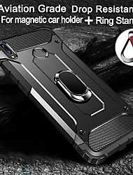 cheap -Magnetic Ring Stand Armor Phone Case For Samsung Galaxy A51 A71 5G A91 A81 A70E A41 A21 A01 A11 A70 A60 A50 A40 A30 A20E A10 A6 A8 Plus 2018 A9 A7 2018 Shockproof Hard PC Back Cover Soft TPU Edge