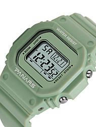 Недорогие -SYNOKE электронные часы Цифровой Спортивные Стильные силиконовый 30 m Защита от влаги Календарь ЖК экран Цифровой На открытом воздухе Мода - Розовый Зеленый Белый / Фосфоресцирующий