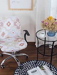 Недорогие -Розовый цветочный принт компьютер офисный стул крышка сплит защитная эластичная ткань полиэстер универсальный рабочий стол стул чехлы на стулья стрейч сгущаться вращающийся стул чехол