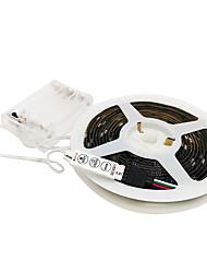 cheap -2m Flexible LED light strips RGB Tiktok Lights 60 LEDs SMD5050 10mm 1 set Multi Color Waterproof Decorative Self-adhesive AA Batteries Powered