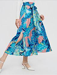 cheap -Women's Swing Skirts - Geometric Blushing Pink S M L