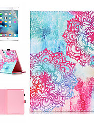 cheap -Case &amp 1pcs Stylus pen &amp 1pcs Screen Protect For Apple iPad Air / iPad (2018) / iPad Air 2 / Pro 9.7 with Stand / Flip / Ultra-thin Back Cover Gradient / Flower PU Leather