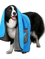 cheap -Dog Cat Pets Towel Dog Clothes Blue Gray Costume Husky Golden Retriever Dalmatian Superfine fiber Print Minimalist XL