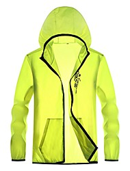 cheap -Men's Daily / Sports Basic Spring &  Fall / Spring & Summer Regular Jacket, Solid Colored / Letter Hooded Long Sleeve Nylon Print Fuchsia / Green / White