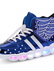 cheap -Boys' / Girls' LED Shoes / USB Charging PU Sneakers LED Shoes Little Kids(4-7ys) / Big Kids(7years +) Walking Shoes LED / Luminous Black / Red / Pink Spring / Winter