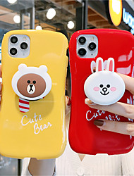 cheap -Case For Apple iPhone 11 11 Pro 11 Pro Max Glossy little waist Kenny rabbit bear pattern creative bracket TPU material scratch-resistant mobile phone case
