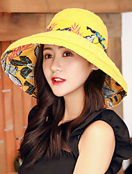 cheap -Hiking Hat Fishing Hat Fisherman Hat Hat 1 PCS Portable Sunscreen UV Resistant Breathable Printing Cotton Autumn / Fall Spring Summer for Women's Camping / Hiking Hunting Fishing Yellow Red Pink