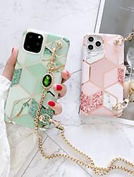 Недорогие -iphone 11pro max matcha зеленый шить мраморный чехол для телефона xs max можно откинуть назад длинный шнур металлической цепью 6/7 / 8 плюс защитный чехол