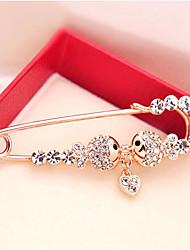 Недорогие -невеста цирконий броши классический ботанический стильный простой классический брошь ювелирные изделия серебро для вечеринки подарок ежедневный рабочий фестиваль