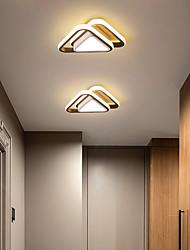 cheap -24cm LED Ceiling Light Corridor Lamp Black Triangle Geometric Shape Kitchen Entrance Hall Porch Balcony Flush Mount Light 110-120V 220-240V
