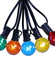 cheap -7.62m LED Festoon String Lights 25 LED Garden Patio Outdoor Decoration Bulb Shape Lights Multi-color Tungsten Paint with E12 Lamp Holder Waterproof G40 US EU Plug
