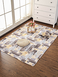 "cheap -2/5"" (1 cm) Area Rugs Machine Made Padded Fabric Non Skid Modern Botanical"