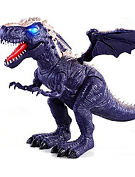cheap -Dragon & Dinosaur Toy Model Building Kit Triceratops Dinosaur Figure Jurassic Dinosaur Tyrannosaurus Rex Electric with Moving Head, Lights, Roaring Sounds Plastic Kid's Party Favors, Science Gift