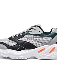 cheap -Men's PU Fall & Winter Casual Trainers / Athletic Shoes Running Shoes / Hiking Shoes Black / Beige / Gray