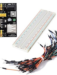 cheap -DIY Kit MB102 Power Module 3.3V 5V  Breadboard 830 points  65PC