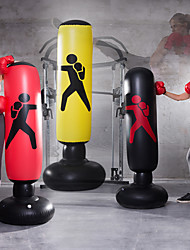cheap -Inflatable Boxing Punching Bag for Taekwondo Martial Arts Kick Boxing Muay Thai Leak-Proof Explosion-Proof Freestanding Flexible Strength Training Stress Relief Crossfit Black Red Yellow / Kid's
