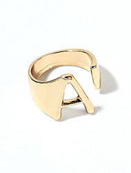 cheap -Ring Gold Silver Alloy Alphabet Shape 1pc Adjustable / Women's