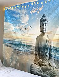 cheap -Buddha Statue Tapestry Twin Hippie Wall Hanging Bedspread Throw Cover Bohemian Beach Mat Table Cloths Home Art Decor Blanket