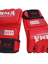 cheap -Boxing Training Gloves / Boxing Gloves For Boxing, Fitness Fingerless Gloves Breathable, Moisture Permeability, Protective Black / Red / White+Red