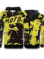 cheap -Yellow Black Adult Riding Suit Motorcycle Jersey Motocross Fleece Sweatshirt Riding Suit Downhill Suit Outdoor Sports Casual Jacket MOTOGP