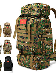 cheap -70 L Hiking Backpack Rucksack Military Tactical Backpack Breathable Straps - Rain Waterproof Wear Resistance High Capacity Outdoor Hunting Hiking Camping Nylon Sky Blue+White Army Green Camouflage