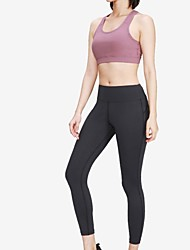 cheap -Women's Tracksuit Yoga Suit Black Purple Grey Home Workout Running Pilates High Waist Bra Top Cropped Leggings Clothing Suit Sport Activewear Tummy Control Butt Lift Breathable High Elasticity Slim