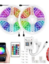 cheap -32.8Ft 10M LED Light Strips LED WiFi Wireless RGB Tiktok Lights LED Smart Waterproof 5050 600LEDs With 24 Keys Remote Control Flexible Tape Lights Fits AlexaGoogle Home