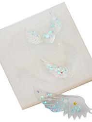 Недорогие -Крылья ангела перо любовь кулон силиконовые формы поделки
