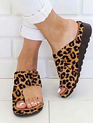 cheap -Women's Sandals Boho Bohemia Beach Flat Sandals Bunion Sandals Flat Heel Open Toe Flat Sandals Daily PU Camel Black Purple